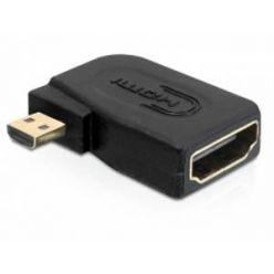 Delock HDMI 1.4 redukce z micro D samec -> A samice, pravoúhlá