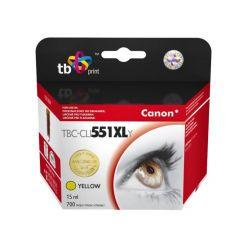 TB náhrada za Canon CLI-551XL, žlutá, 15ml
