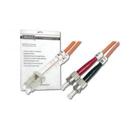 Digitus Fiber Optic Patch, LC to ST,Multimode 50/125 µ, Duplex, 1m