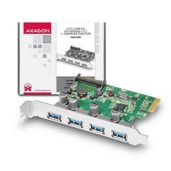 AXAGON PCEU-430V, 4-portový USB 3.0 řadič, UASP, PCIe