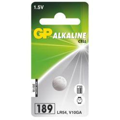 GP 189 (LR54, V10GA], knoflíková baterie, 1.5V, 1ks