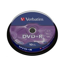 Verbatim DVD+R Matt Silver, 4.7GB, 16x, 10ks, spindle