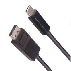 PremiumCord propojovací kabel USB-C na DisplayPort 1.4, 2m, černý