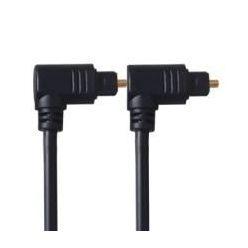 PremiumCord Kabel Toslink 90° - Toslink 90°, tloušťka kabelu:4.0mm, délka 1m