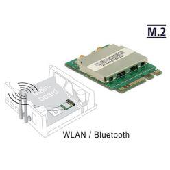 Delock Modul M.2 Key A+E samec > WLAN 11ac/a/b/g/n + Bluetooth 4.0
