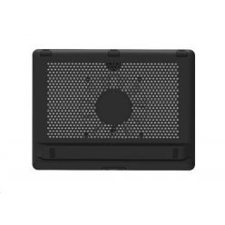 """Cooler Master chladící podstavec NotePal L2 pro notebook 7-17"""", modrá LED, černý"""
