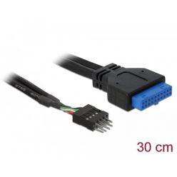 DeLock adaptér USB 3.0 19-pin samice na USB 2.0 8-pin samec