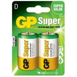 GP Super alkalická baterie, typ D, 1.5V, 2ks