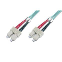 Digitus Fiber Optic Patch Cord, SC to SC Multimode 50/125 µ, Duplex Length 2m, Class OM3
