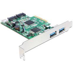 Delock PCI Express Karta > 2 x externí USB 3.0, 2 x interní SATA 6 Gb/s