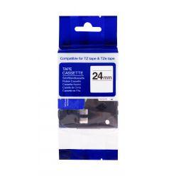 PRINTLINE kompatibilní páska s Brother TZE-751, 24mm, černý tisk/zelený podklad