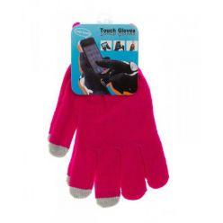 Rukavice pro dotykové displeje - dámské, růžové
