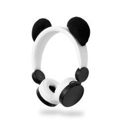 Nedis HPWD4000WT - Drátová Sluchátka | 1,2m Kulatý Kabel | Na Uši | Odpojitelná Magnetická Ouška | Patty Panda | Bílá