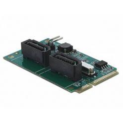 Delock Mini PCIe Konvertor na 2 x SATA s RAID