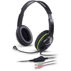 Genius HS-400A green, sluchátka s mikrofonem, 2x 3.5mm jack
