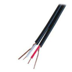 Kabel plochý 2x koax pro audio, 1m