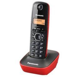 Panasonic KX-TG1611FXR, bezdrátový telefon, červený