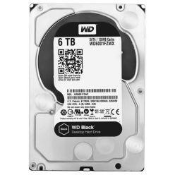 """WD Black 6TB, 3.5"""" HDD, 7200rpm, 128MB, SATA III"""