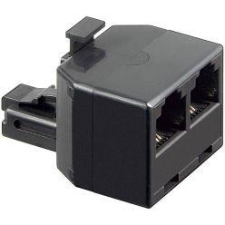 Goobay rozdvojka RJ11 6P4C (2xF/1M), černá