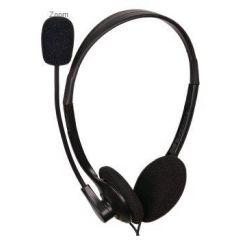 C-TECH MHS-123, sluchátka s mikrofonem, černá