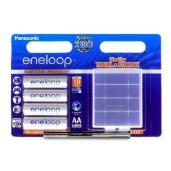 Panasonic eneloop, AA, Ni-Mh, 4ks, 1900mAh, 2100 cyklů + pouzdro