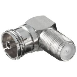 Goobay anténní redukce F(F) konektor - PAL(F) IEC, lomená 90°
