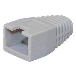 Krytka konektoru RJ45 na kulatý kabel, s výřezem,  1ks, šedá