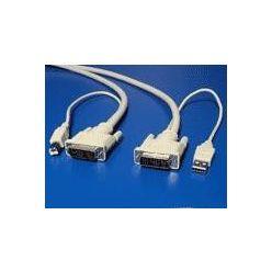"""Kabel pro přepínač počítačů,USB A(M)/DVI - USB B(M)/DVI, """"star"""",1.8m"""