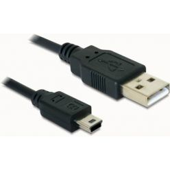 Delock kabel USB 2.0 A-samec > USB mini-B 5-pin samec, 0,7 metru