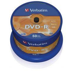Verbatim DVD-R Matt Silver, 4.7GB, 16x, 50ks, spindle