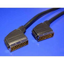 Kabel Scart(M) - Scart(M), 3m, zlacené konektory, stíněný