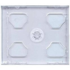 Plastový CD Jewel box pro 2 CD, průhledný