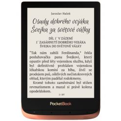 "POCKETBOOK e-book reader 632 Touch HD 3/ 16GB/ 6""/ Wi-Fi/ micro USB/ čeština/ Spicy Copper"