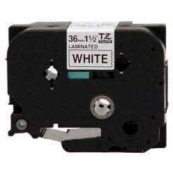 Brother TZ-261, bílá / černá (36mm, laminovaná)