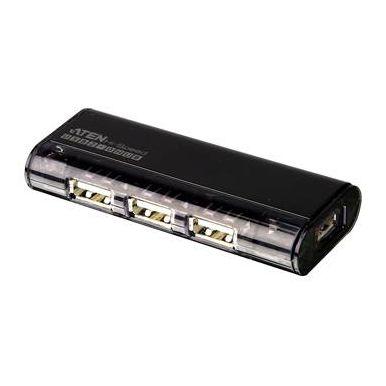 ATEN UH284, USB 2.0 HUB, 4-portový bez napájení, magnetický, černý