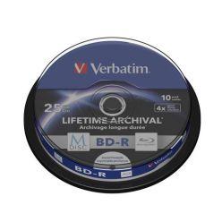Verbatim M-DISC BD-R, 25GB, printable, 4x, 10ks, spindle