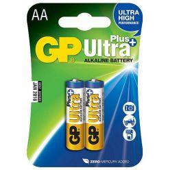 GP Ultra Plus, alkalická AA baterie, 1.5V, 2ks