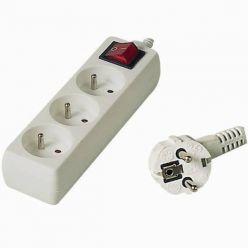 PremiumCord Prodlužovací přívod 230V 10m 3z.+vypínač