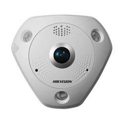 Hikvision IP fisheye kamera DS-2CD6332FWD-IVS, 3MP, 2048x1536, 25fps, IP66, 15m IR, IRcut, obj. 360°, WDR, SD, PoE