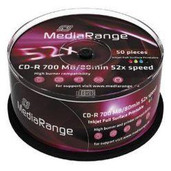 Mediarange CD-R, 700MB, 52x, printable, 50ks, spindl