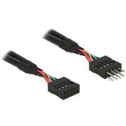 Delock USB 2.0 Pin konektor prodlužovací kabel 10 pin samec / samice 25 cm