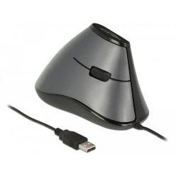 Delock vertikální optická myš, 800dpi, 5 tlačítek, USB