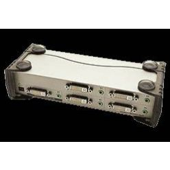 Rozbočovač DVI-I + audio na 4 monitory (VS164)