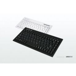 AMEI AM-K2001W, Slim Mini Keyboard, bílá, CZ, USB/PS2