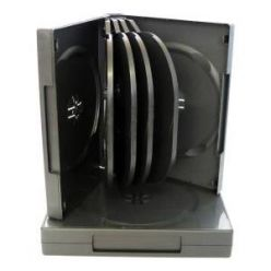 Plastový DVD box pro 10 DVD - 34mm, černý