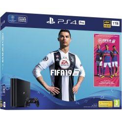 Sony PlayStation 4 Pro 1TB černý + hra FIFA 19