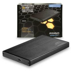 "AXAGO ALINEbox, EE25-XA3 externí box na 2.5"" SATA disk, USB 3.0, černý"