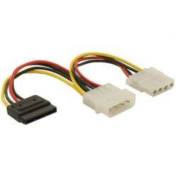Power Adapter Molex 4-pin samec na SATA 15-pin + Molex 4 pin samice