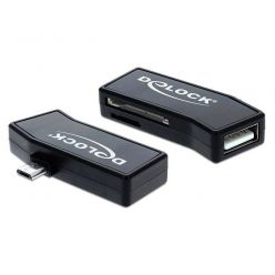 Delock Micro USB OTG čtečka karet + 1 x USB Port