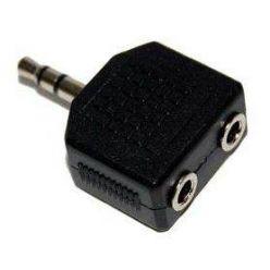 PremiumCord Adaptér stereojack 3.5 - 2x3.5 M/F
